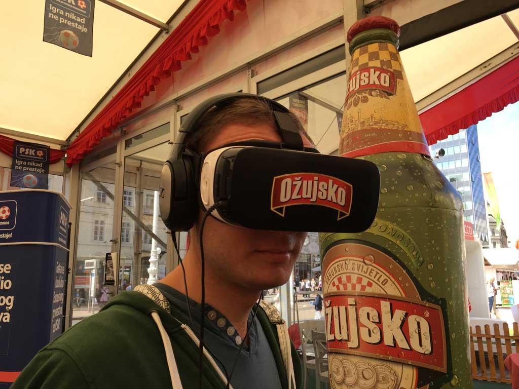 Brendiranje VR opreme - Ožujsko - Trg bana Jelačića