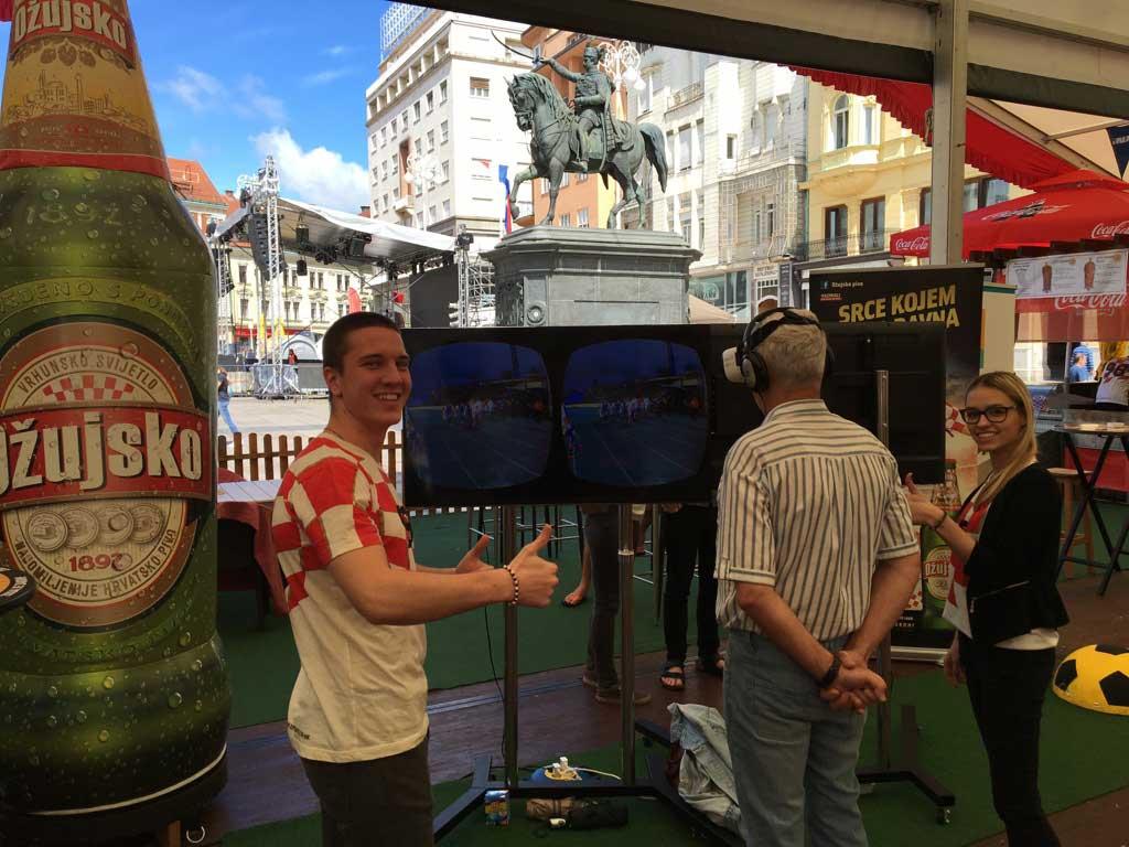 VR promocija 360 video VR filma izrađenog za potrebe Zagrebačke pivovare - Trg bana Jelačića 2016